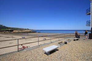 An Adjacent Stone Garden Overlooks The Beach