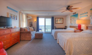 Oceanfront - Room 30 - Two full beds, one sofa bed, sleeps 6